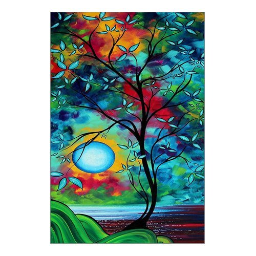 Modern Art  Painting Colorful Tree of Life Canvas Print