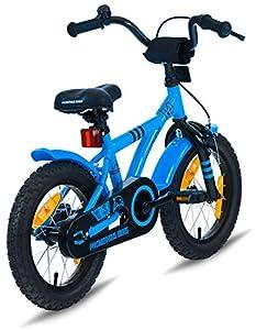 prometheus bicycles prometheus kinderfahrrad 14 zoll jungen und m dchen in blau schwarz mit. Black Bedroom Furniture Sets. Home Design Ideas