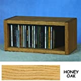 Solid Oak CD Floor Shelf or Wall Mount Cabinet - 1 Shelf - Holds 32 CDs (Honey Oak) (6.75