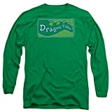 Dragon Tales Series Show Logo Distressed On Green Adult Long Sleeve T-Shirt