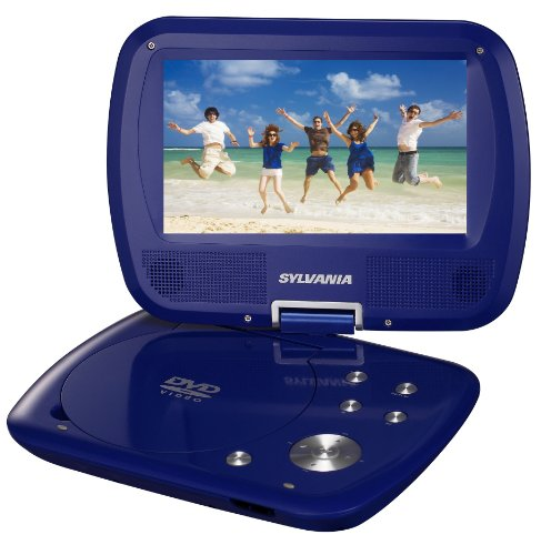 Sylvania SDVD7037 7-Inch Portable DVD Player with Swivel Screen – Blue