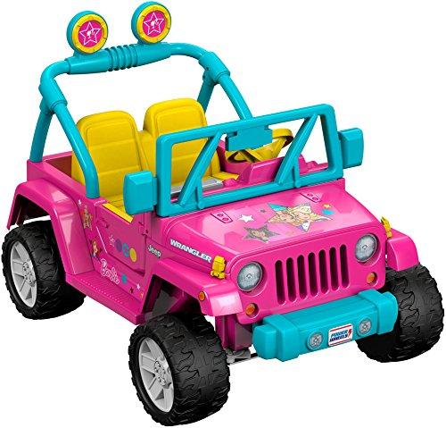 51kliaF4DvL - Power Wheels Barbie Jeep Wrangler