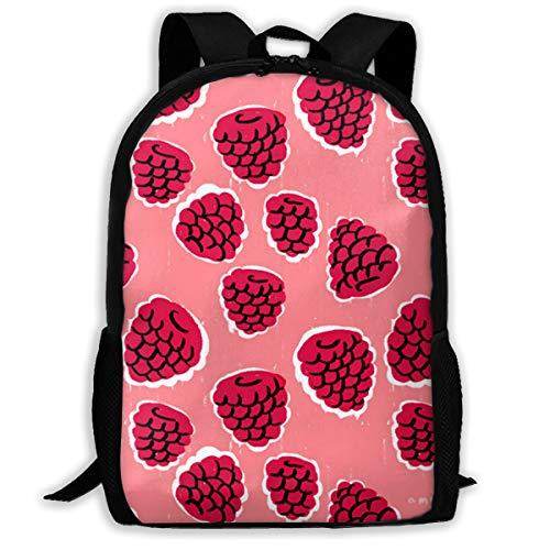 Backpack For Girls Boys Mulberry Pink Zipper School Bookbag Daypack Travel Rucksack Gym Bag For Man ()