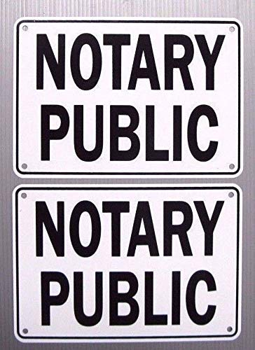 Notary Public Service Sign, 2 Sign Set, Metal ()