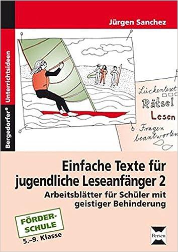 Einfache Texte für jugendliche Leseanfänger 2: Arbeitsblätter für ...