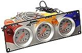 Longacre 44414 Water Temperature and Oil Pressure/Temperature 3-Gauge Panel