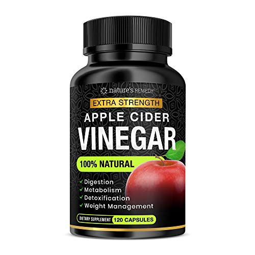 100% Natural Raw Apple Cider Vinegar Capsules (1500 mg | 120 Capsules) Pure Apple Cider Vinegar Pills with Cayenne Pepper for Fast Detox Cleanse & Bloating Relief