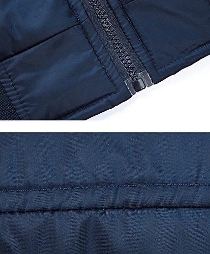 Slim Mochoose Chaqueta Hombre Zipper Impermeable Chaqueta Ligero Impermeable Collar Outerwear Casual Azul rEnrwY4qf