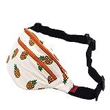 Fanny Pack Pineapple Hip Bag Waist Bag Canvas Bum Belt Hip Pouch Bags Purses Festival (Orange)