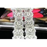 QueenDream 1 yard Fashion Sash Belt Applique for Valentine #39;s Day rhinestone banding trim Pure ma