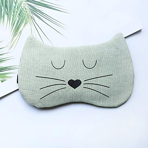 Price comparison product image Hot Sale!DEESEE(TM)Cute Eye Mask Soft Padded Sleep Travel Shade Cover Rest Relax Sleeping Blindfold (Green)