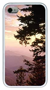 Blue Ridge Parkway In North Carolina PC hard Case Cover for iPhone 4 and iPhone 4s ?¡ìC White