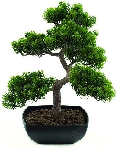 Artificial Bonsai Tree 50cm Amazon Co Uk Kitchen Home