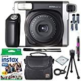 Fujifilm Instax Wide 300 Instant Film Camera + instax Wide Instant Film, 20 Exposures + Extra Accessories