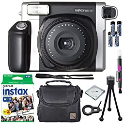 Fujifilm Instax Wide 300 Instant Film Camera + instax Wide Instant Film, 20 Exposures + Extra Accessories