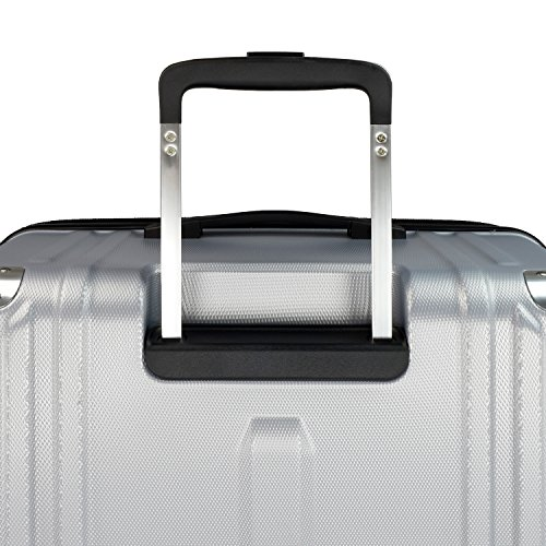 Traveler's Choice New London 100% Polycarbonate Trunk Spinner Luggage - Silver ( 26-Inch )