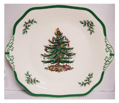 (Spode Christmas Tree-Green Trim S3324 - 11 1/2