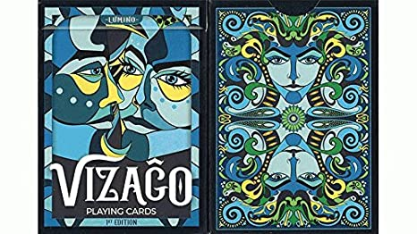 SOLOMAGIA VIZAGO Lumino (Blue) Playing Cards - Card Tricks ...