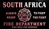 qy2493-r SOUTH AFRICA Fire Dept Fireman Gift Home Decor Neon Light Sign