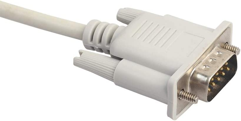 Cable Length: 1.5m, Color: White Computer Cables New Serial RS232 9-Pin Male to Female DB9 9-Pin PC Converter Extension Cable