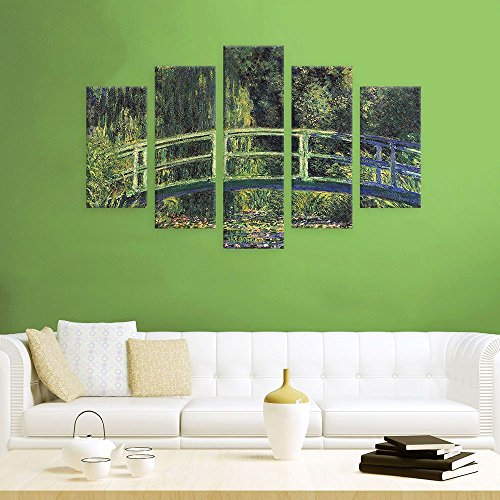 Alonline Art - Water Lily Pond Claude Monet Poster Prints Rolled Print on Fine