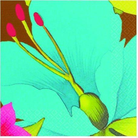 (Cool Tiki Blossoms Beverage Napkins)