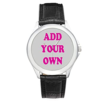 a07255e6222 Personalized Custom Women s Classic Leather Strap Stainless Watches -  Wedding Valentine s ...
