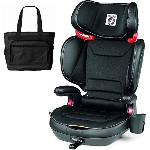 Peg Perego 2-in-1 Viaggio Shuttle Plus 120 Booster Car Seat with Bonus Diaper Bag – Licorice