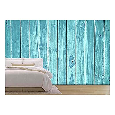 Wonderful Work of Art, Blue Wood Background, With a Professional Touch