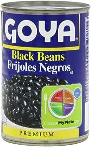 Goya Black Beans - Frijoles Negros 15.5 Oz Pack of 6