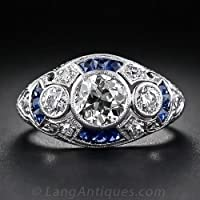 4.1CT White Topaz Sapphire 925 Silver Women Men Ring Wedding Vintage Size 6-10#by pimchanok shop (6)