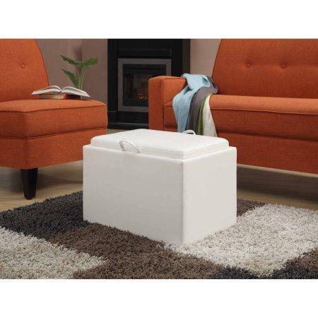 Designs4Comfort Accent Storage Ottoman (Ivory) (Media Storage Ottoman)