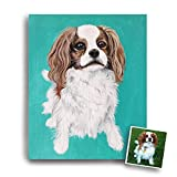 "12"" x 16"" custom pet portrait hand painted painting on canvas"