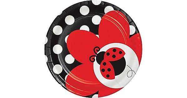 Amazon.com: Ladybug Fancy platos de postre, 24 ct: Health ...