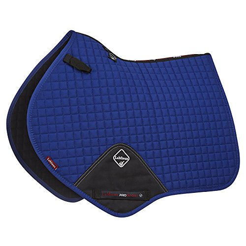 Le Mieux ProSport Close Contact/Jumping Cotton Square Saddle Pad (Benetton Blue, Large)