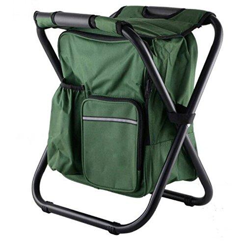 L&J Multifunctional Folding stool, Lightweight Beach chair Portable Leisure...