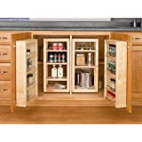 """Rev-A-Shelf 4WBP18-25-KIT Natural 25"""" Base Cabinet Swing Out Complete Pantry System"""