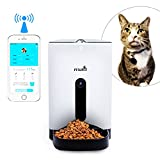 Petwant Automatic Pet Feeder for Dogs & Cats, SmartFeeder with 120-degree Wide-angle HD Camera and Voice Interaction, Real-time Sharing, Controlled by Iphone, Andriod or Other Smart Devices
