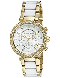 Michael Kors Parker MK6119 Women's Wrist Watches, Silver Dial
