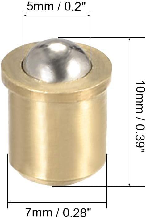 Sourcingmap T/ürschr/änke Schubladenschn/äpper 7 mm Durchmesser Messing Kugelschn/äpper 20 St/ück