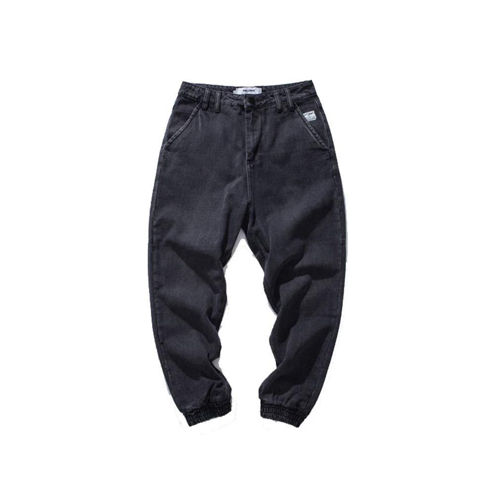 EVEORSSRA Jeanshosen 2018 Herbst Winter Reine Farbe Jeans Männer Lose Gerade Tube Tide Männer Füße Jeans Männer