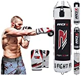 RDX Heavy Boxing 4FT 5FT Punch Bag Unfilled MMA Punching Bags Training Gloves KickBoxing