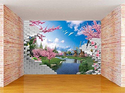 Envouge Broken Wall 3d Design Washable Wallpaper 3 X 2 Feet