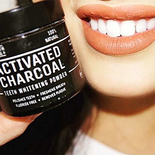 Activated Charcoal Natural Teeth Whitening Powder by Pro Teeth Whitening Co Grey Charcoal (non abrasive and proven safe for enamel) From Coconut Shells | Manufactured in England by Pro Teeth Whitening Co (Image #5)