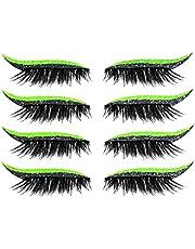 Eyeliner Eyelash Stickers Återanvändbar Vattentät Sticka på Eyeliner Eyeshadow Makeup Black, Eye Makeup Stickers