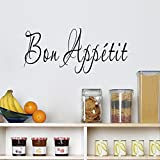 Best Decal Quote For Kitchen Rooms - BIBITIME English Word Art Sayings Bon Appetit Wall Review