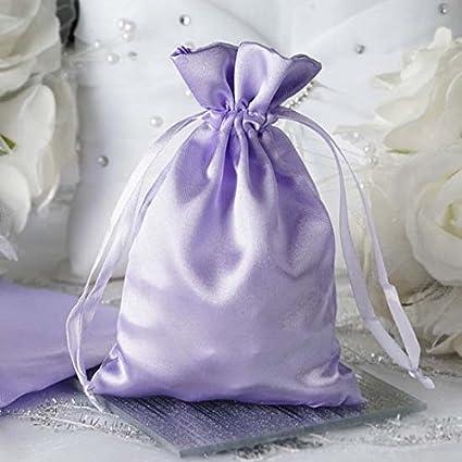 d38f10a5af40 Amazon.com: Efavormart 12PCS Lavender Satin Gift Bag Drawstring ...