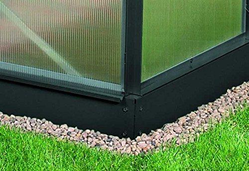 Vitavia Stahl-Fundament 3000, 12,5 cm für Gewächshäuser schwarz