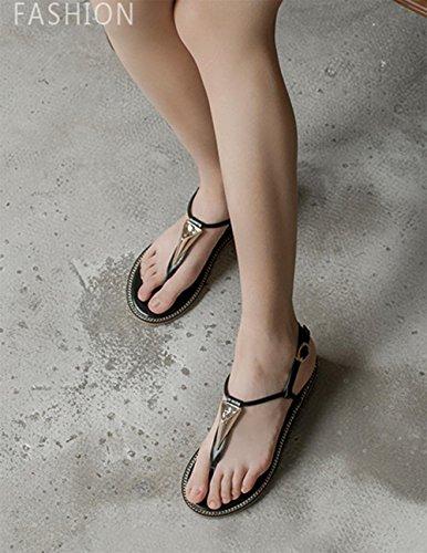 Klippzehe schwarze Heels Flip flachen Sandalen weibliche Schuhe Xia Jiping US7.5 / EU38 / UK5.5 / CN38