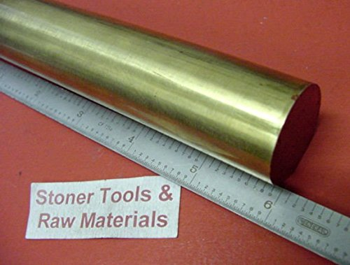 "1"" BRASS C360 ROUND ROD 6"" long 1.000"" H02 Solid Brass Bar New Lathe Bar Stock"